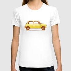 Famous Car #1 - Mini Cooper Womens Fitted Tee White LARGE