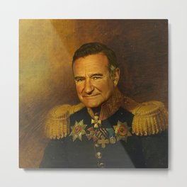 Robin Williams - replaceface Metal Print
