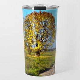 Golden autumnal spirit Travel Mug