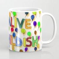 childish gambino Mugs featuring STAY ALIVE BE CHILDISH I by Pio Timoko