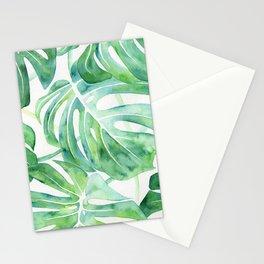 Monstera Leaf Pattern Stationery Cards