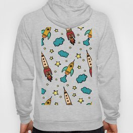 Colorful spaceshuttle in universe Hoody