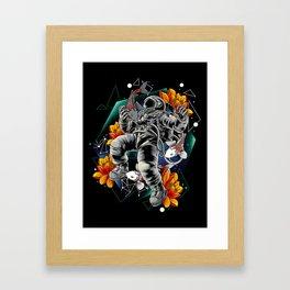 Lucky Spaceman Framed Art Print