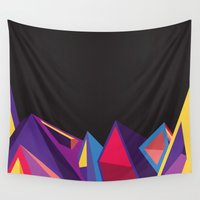 geometry Wall Tapestries featuring Geometry by Logan David