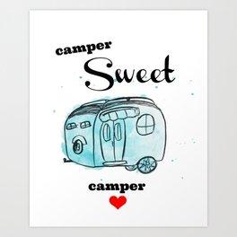 Camper Sweet Camper Art Print