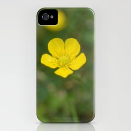 Golden Yellow Drop of a Flower iPhone Case