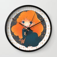 merida Wall Clocks featuring Merida by Suni