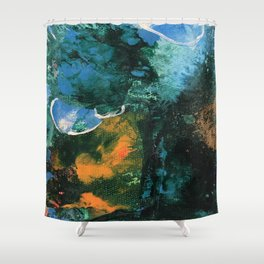 Mini World Environmental Blues 4 Shower Curtain