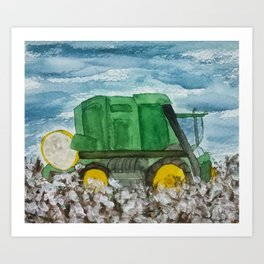Cotton Picker Art Print