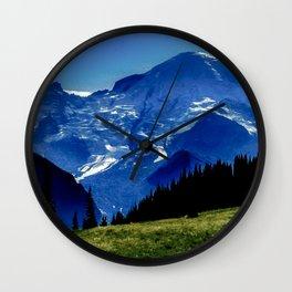 Mount Rainier in the Distance Wall Clock