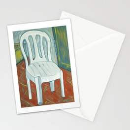 a plastic chair Stationery Cards