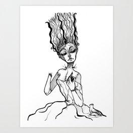 Franken Girl Art Print