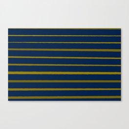 Slate Blue and Honey Gold Stripes Canvas Print