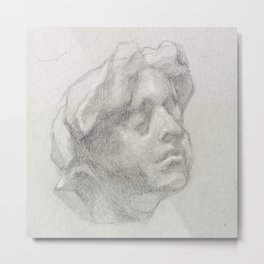 Head of a Young Woman, After Aguste Rodin Metal Print