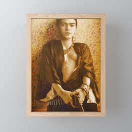 Frida Gun Framed Mini Art Print