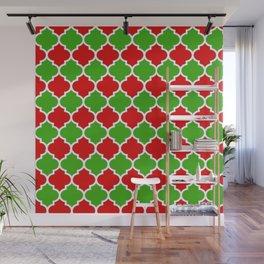 Christmas Domes - Red and Green Domes perfect for Christmas Home Decor Wall Mural