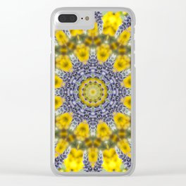 Lavender Star Clear iPhone Case