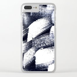 Black and white 2 Clear iPhone Case