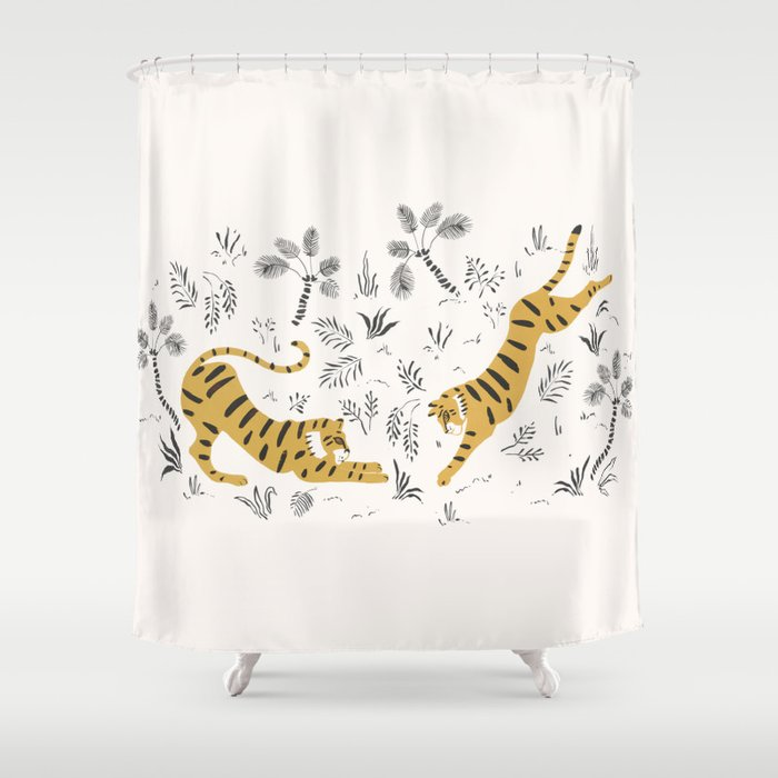 Tiger Dive Shower Curtain