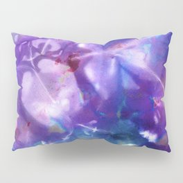 Blue Stargazer Floral Pillow Sham