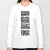 cities Long Sleeve T-shirts featuring Cities by Kimmo Rantalainen