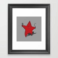 Zombie Star Framed Art Print
