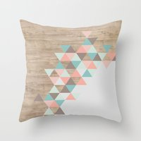pastel Throw Pillows featuring Archiwoo by Marta Li