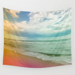 Beach in Colours Wall Tapestry