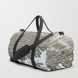 View of the City of New Bedford, Massachusetts (1876) Duffle Bag