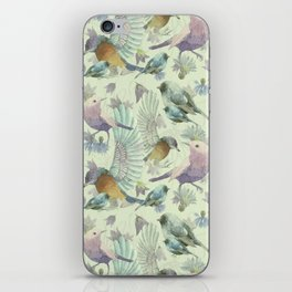 Bluebells and Birds iPhone Skin