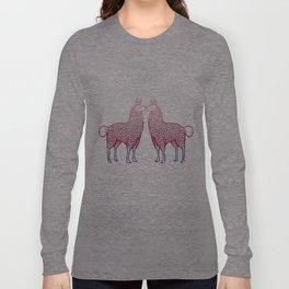 Llamas Kissing Long Sleeve T-shirt