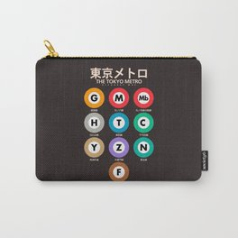 Tokyo subway alphabet map, City metro poster, japan underground print, japanese city wall art Carry-All Pouch