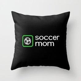 Soccer Mom (Green) Throw Pillow