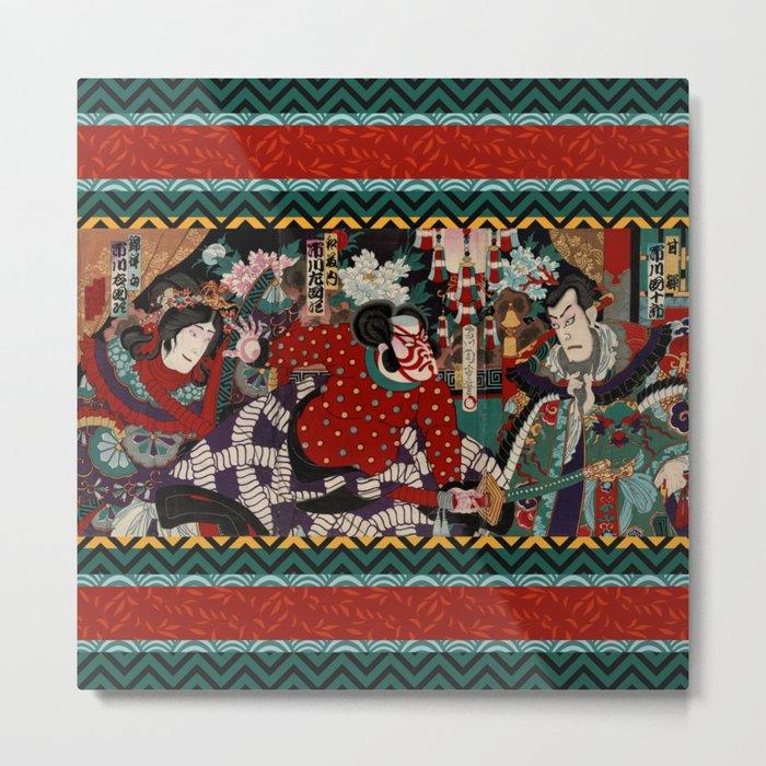 Kabuki Samurai Warriors Metal Print