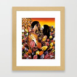 Many Colored Tulips Remix Framed Art Print
