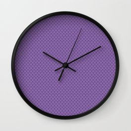 Amethyst Purple Scales Pattern Wall Clock