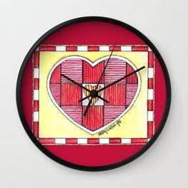 Pinstripe Heart Wall Clock