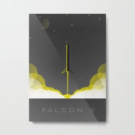 Falcon 9 Heavy Launch Metal Print