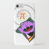 pi iPhone & iPod Cases featuring Count Pi by tuditees