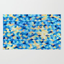 Mosaic in blue Rug