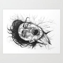 Moan b&w Art Print