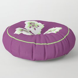 Purple Nasturtium Floor Pillow
