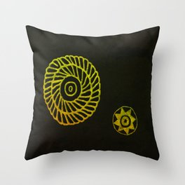 Wheels  from the Past Throw Pillow