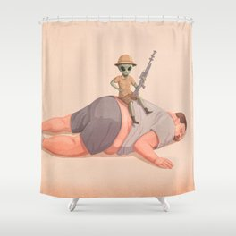 The Big Hunt Shower Curtain