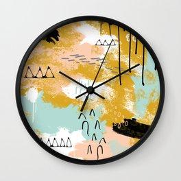 Presence of Life, Abstract Tribal Art Wall Clock