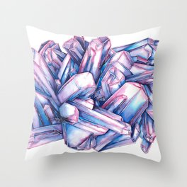 Ocean Blues and Purples Throw Pillow
