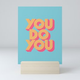 You Do You Retro Blue Mini Art Print