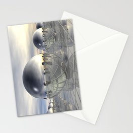 Reflecting 3D Spheres Stationery Cards