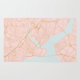 Istanbul map, Turkey Rug