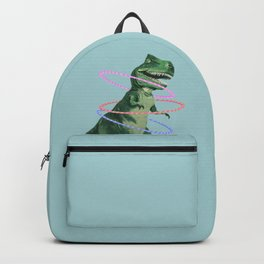 T-Rex the Hula Dancer in Green Backpack